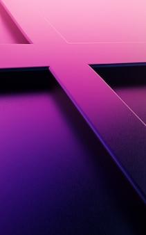 Illustration des abstrakten vertikalen hintergrunddesigns mit sich kreuzenden linien in lila farbe