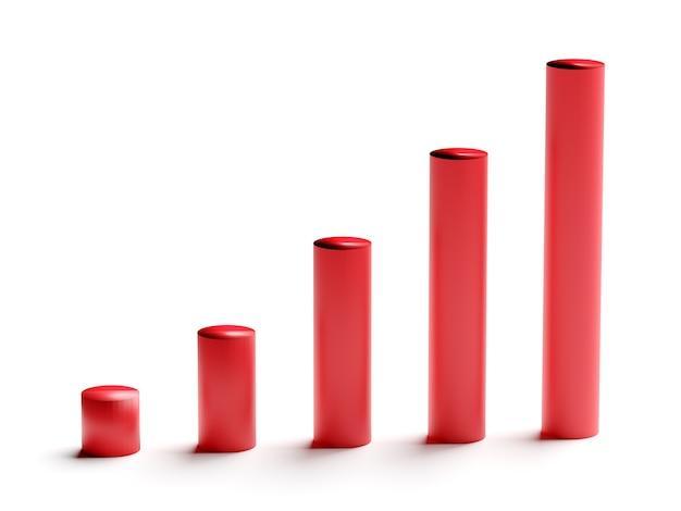 Illustration des diagramms mit dem wachsenden fortschritt. geschäftskonzepte