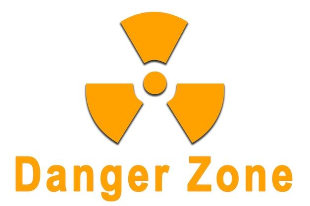 Illustration des gefahren- und radioaktivitätssymbols