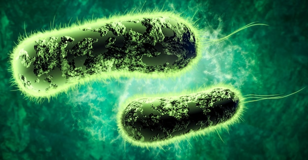 Illustration digital 3d von bakterien
