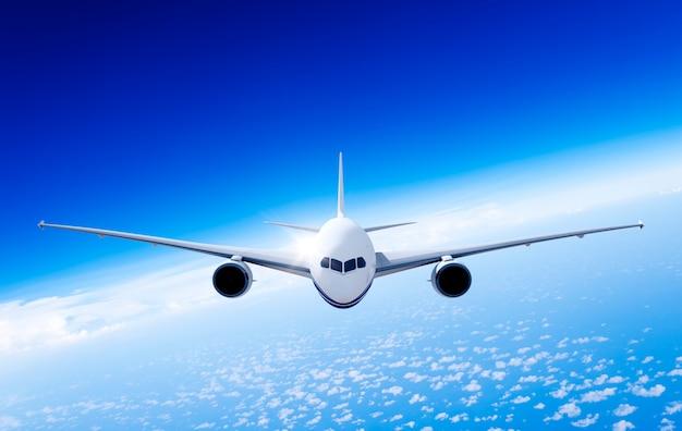 Illustration eines fliegenden flugzeugs