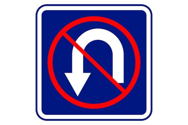Illustration eines no return-zeichens auf blauem hintergrund