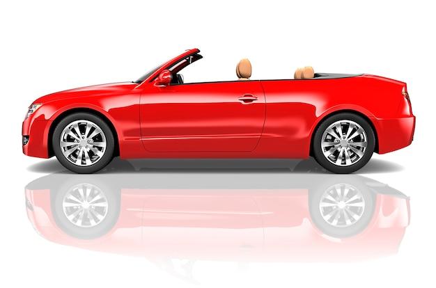 Illustration eines roten autos