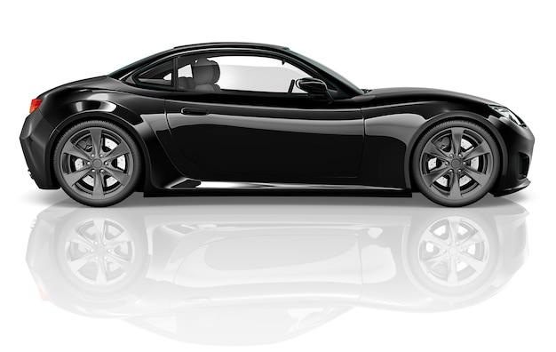 Illustration eines schwarzen autos