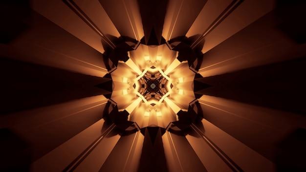 Illustration von abstrakt leuchtenden neonlichteffekten - ideal für einen futuristischen hintergrund