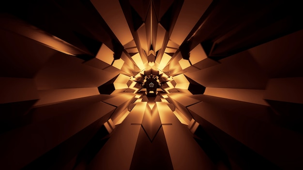 Illustration von abstrakt leuchtenden neonlichteffekten - ideal für einen futuristischen raum