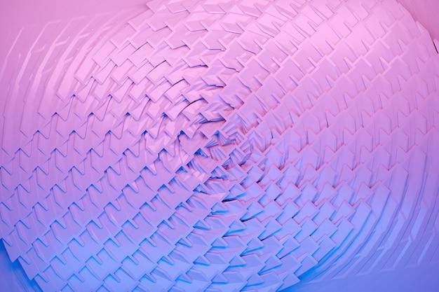 Illustration von reihen von blauen und lila würfeln und streifen