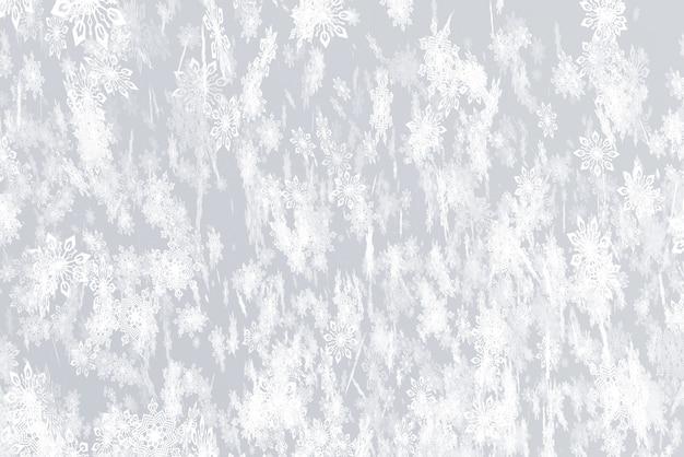 Illustration zum thema der illustration der schneefälle 3d des neuen jahres