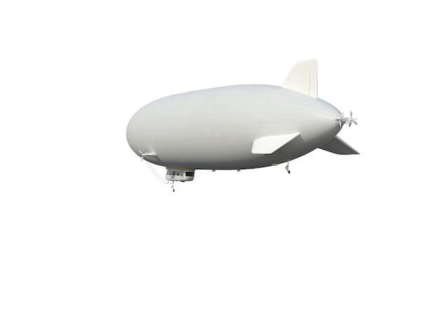 Illustrieren sie ein luftschiff, isoliert, weißer hintergrund