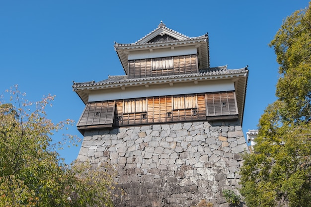 Im bau kumamoto schloss nach erdbeben, kumamoto, kyushu, japan