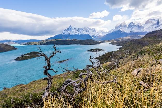 Im nationalpark torres del paine, patagonien, chile, lago del pehoe.