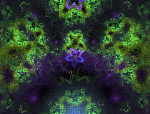Imaginäre üppige fraktale textur generierte bild abstrakten hintergrund