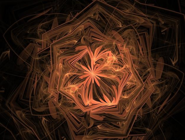 Imaginärer fraktalhintergrund erzeugtes bild