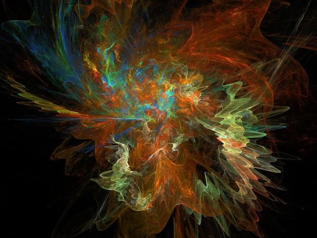 Imaginatorische üppige fraktale textur erzeugte abstrakten bildhintergrund