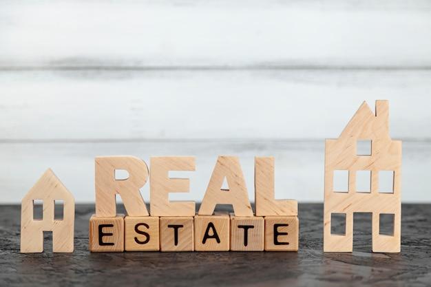 Immobilienbeschriftung der vorderansicht