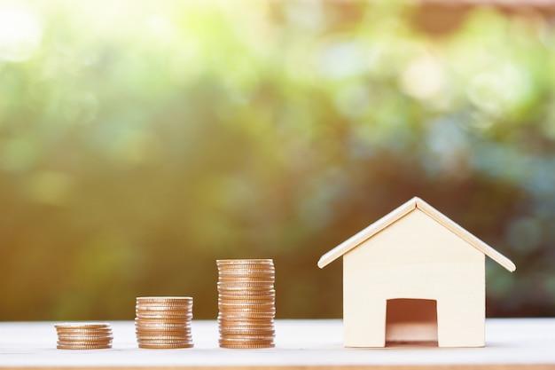 Immobilieninvestition, wohnungsbaudarlehen, haushypothek, ansässiges finanzkonzept
