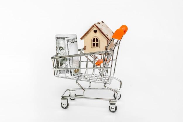 Immobilieninvestitions- und haushypothekenfinanzkonzept. kauf, miete und verkauf von wohnungen