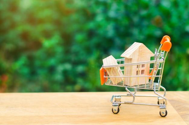 Immobilieninvestitions- und haushypothekenkonzept. kauf, vermietung und verkauf von wohnungen.