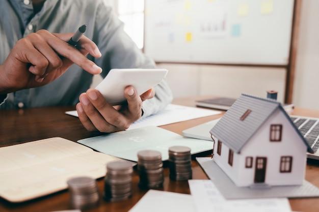 Immobilieninvestitions- und hypothekenfinanzkonzept.