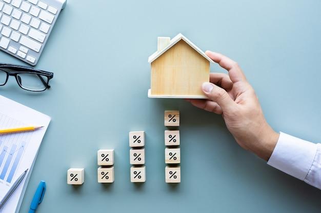 Immobilienzins, finanzierungskredit erhöht die investitionsplanung geschäftsimmobilien