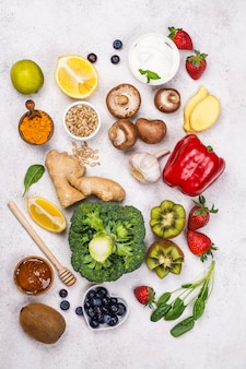 Immunität stärkt das essen
