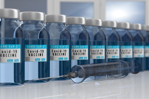 Impfstoff gegen covid-19 im labor