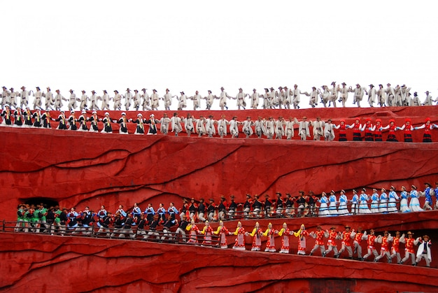 Impression lijiang, eine kulturschau in der antiken stadt lijiang