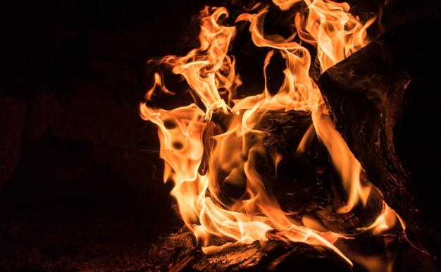 In die flammen