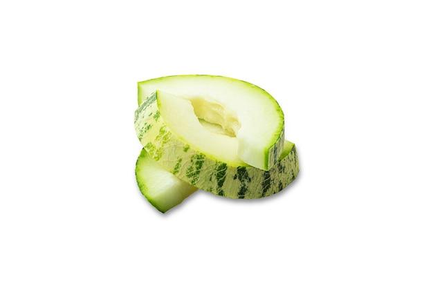 In scheiben geschnittene ungewöhnliche melone.