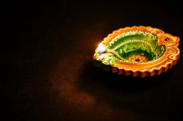 Indian festival diwali, dekorative öllampe