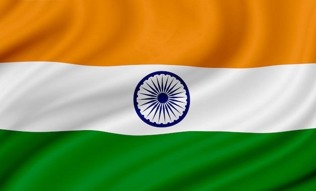 Indien-flaggenhintergrunddesign für unabhängigkeitstag und andere feier