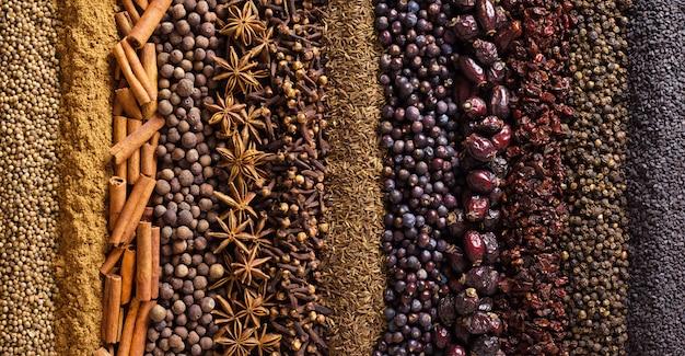 Indische gewürze und kräuter