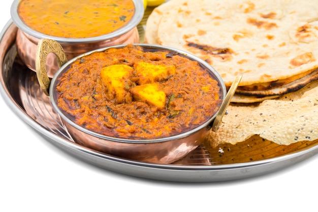 Indische küche kadai paneer