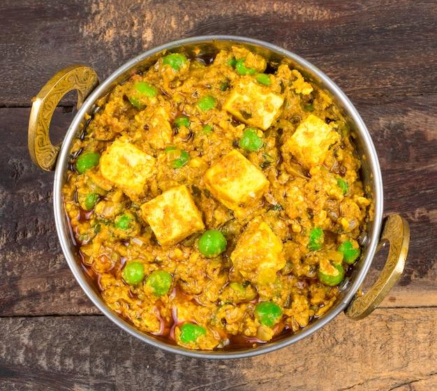 Indische küche mattar paneer food