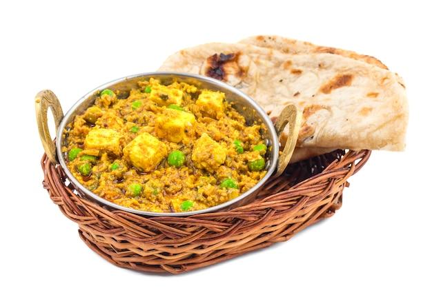 Indische küche mattar paneer