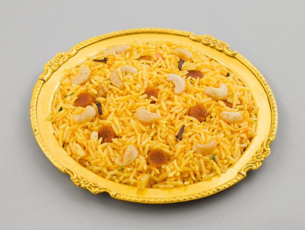 Indische küche pulao oder pulav