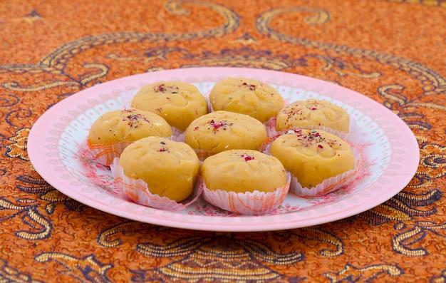 Indische populärste süße nahrungsmittelvielzahl von peda