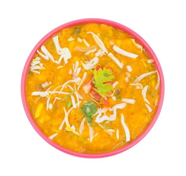 Indische straßen-chat-nahrung ragda pattice