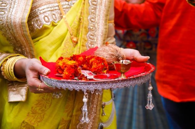 Indische traditionelle hochzeitszeremonie