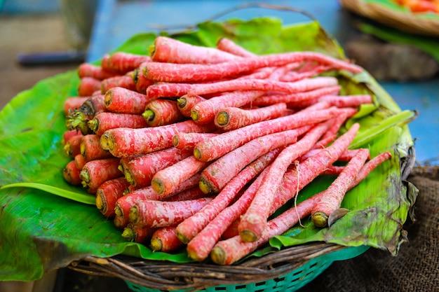 Indischer gemüsemarkt