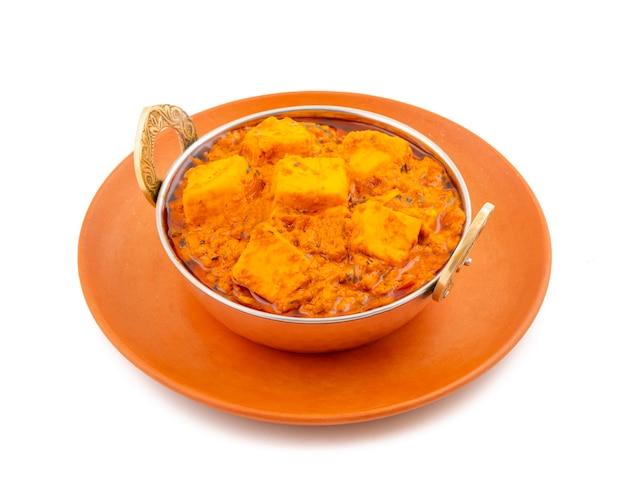 Indischer köstlicher würziger vegetarischer küche paneer toofani