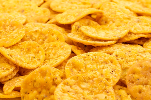 Indischer straßen-snack-food masala khari papdi background