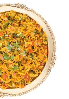Indischer traditioneller nachtisch veg-biryani