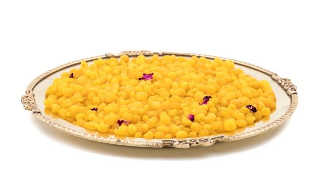 Indischer traditioneller süßer boondi