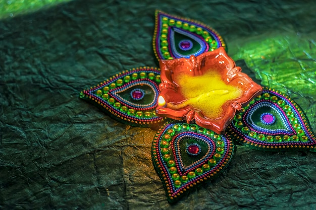 Indisches festival diwali, diwali lampe