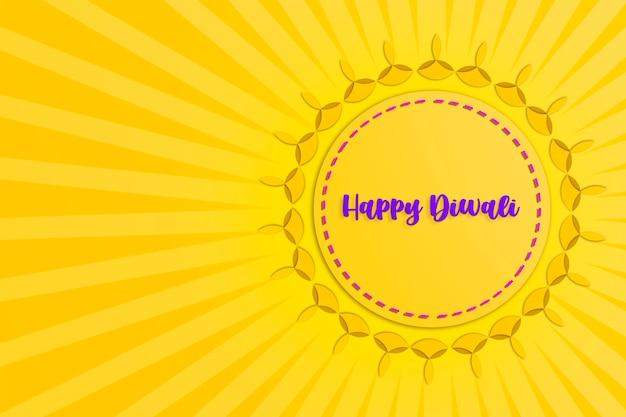 Indisches festival diwali, diwali-öllampe auf dunklem hintergrund