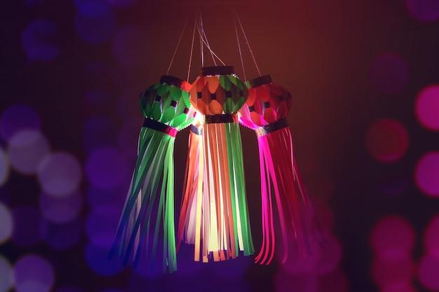 Indisches festival diwali, laterne