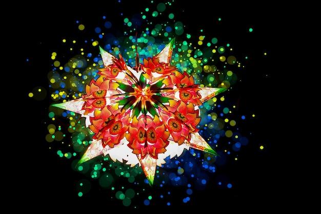 Indisches festival diwali, papierlaterne