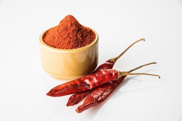 Indisches gewürz rote chili oder lal mirch pulver