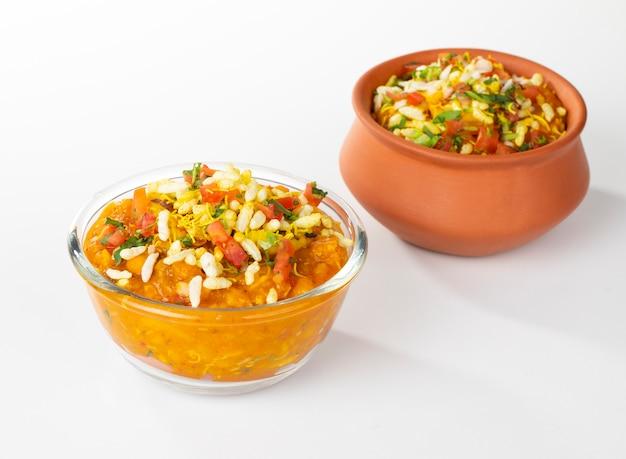 Indisches populäres straßenlebensmittel ragda pattice